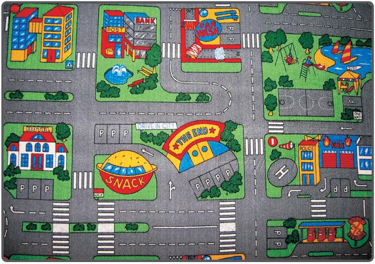 Dětský koberec PLAYGROUND 95x200cm (silnice)