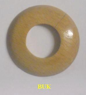 """Dřevěná rozeta buk 1"""" - 36,5 mm - masiv (k podlaze a topení)"""