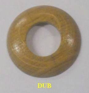 """Dřevěná rozeta dub 3/4"""" - 28,5 mm - masiv (k podlaze a topení)"""