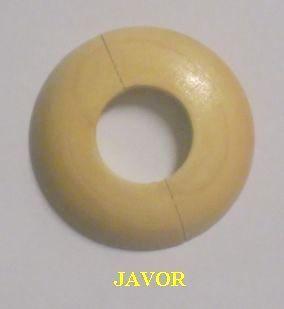 """Dřevěná rozeta javor 1"""" - 36,5 mm - masiv (k podlaze a topení)"""