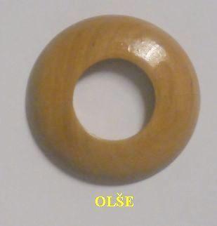 """Dřevěná rozeta olše 1"""" - 36,5 mm - masiv (k podlaze a topení)"""