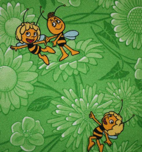 Dětský metrážový koberec MAYA 21 š.4m (zelená)