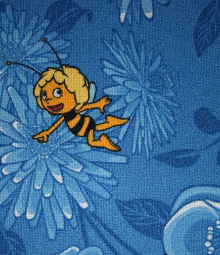 Dětský metrážový koberec MAYA 77 š.4m (modrá)