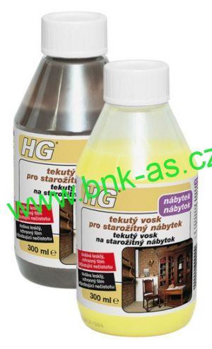 HG tekutý vosk pro starožitný nábytek hnědý 300 ml