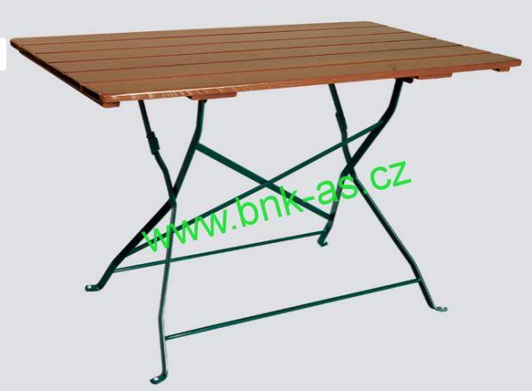 Zahradní stůl Klasik 80x160 cm jasan, skládací