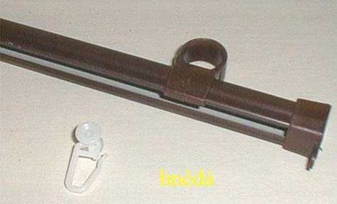 Gardinia U-kolejnička 110cm kov bronz/hnědá