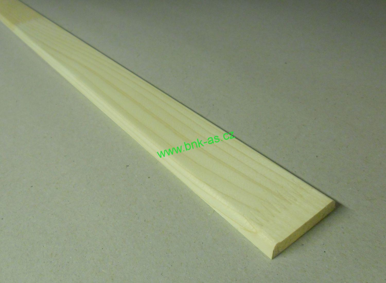 Spálenský dřevěná krycí lišta K 4405/240cm smrk 44x5x2400mm