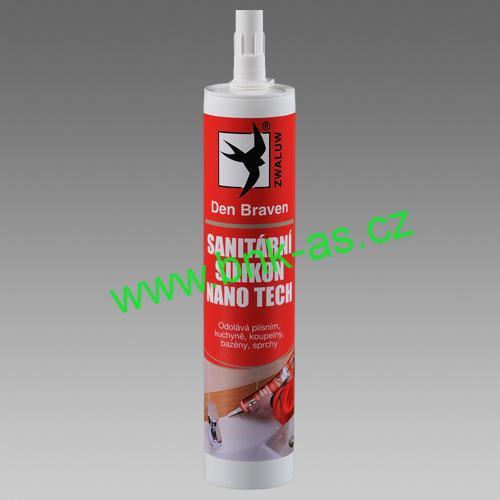 Sanitární silikon NANO TECH 310ml kartuše transparentní