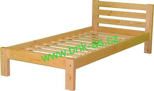 ARTEN postel NINA 180x200cm borovice přírodní masiv