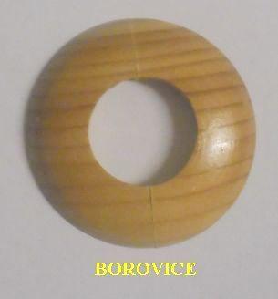 Dřevěná rozeta borovice 15mm - masiv (k podlaze a topení)