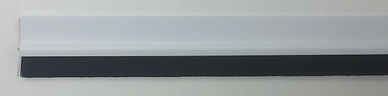 Kartáčová těsnící lišta na dveře bílá (88010)