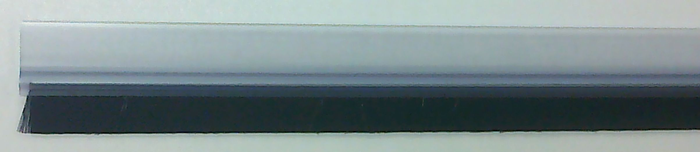 Kartáčová těsnící lišta na dveře transparentní (88018)