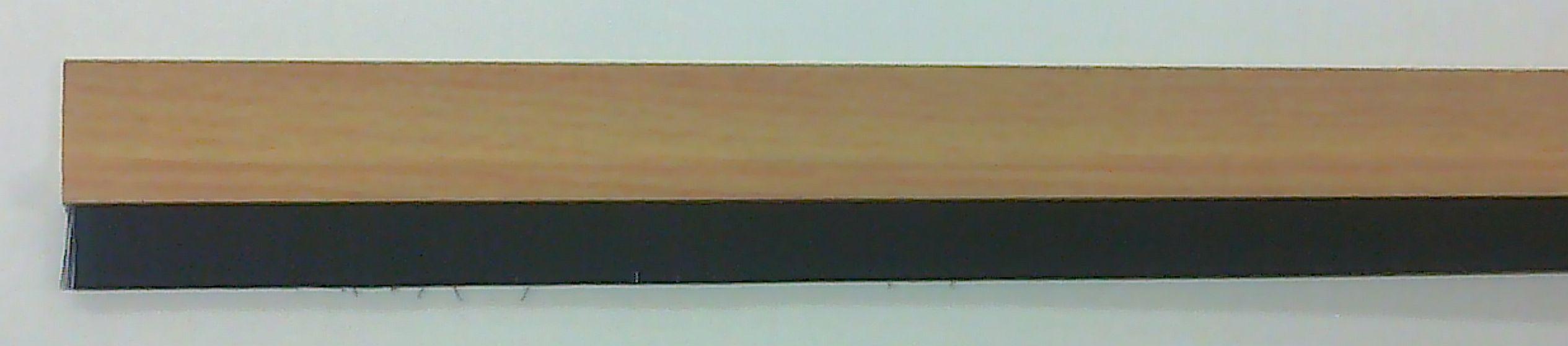 Kartáčová těsnící lišta na dveře buk (88017)
