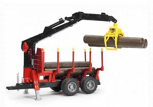 BRUDER 2252 přepravník na dřevo s nakladačem