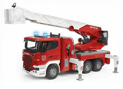 BRUDER 3590 Nákladní auto SCANIA Požární žebřík