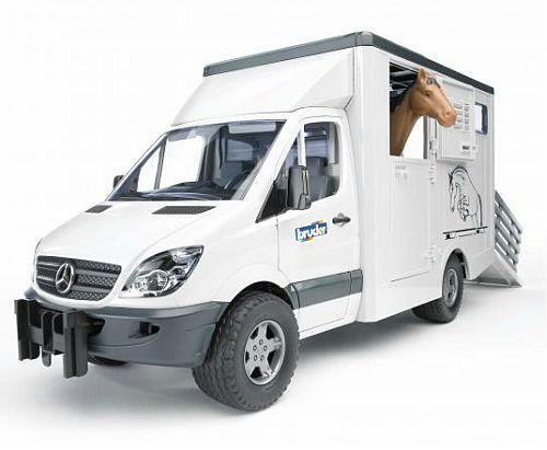 Bruder 2533 MB Sprinter přeprava zvířat s koněm