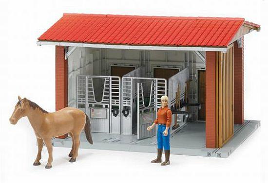 BWORLD 62520 Sada stáj s koněm,figurkou a příslušenstvím