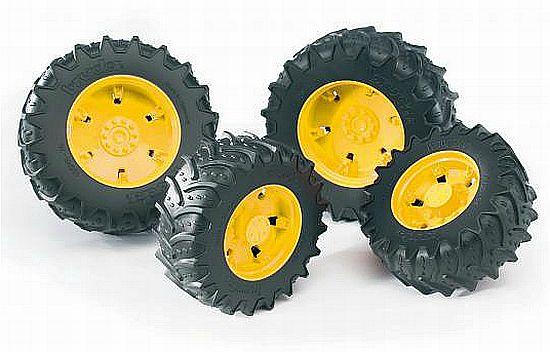 Bruder 3314 náhradní kola pro traktory řady 3000 žlutá (pro traktory John Deere 7930 3000)