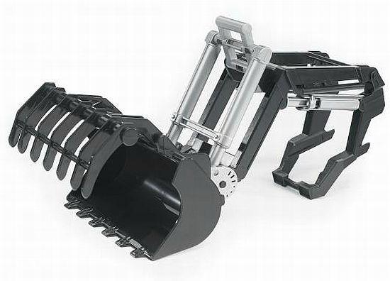 BRUDER 2317 Čelní nakladač + drapák (pro traktory série 2000)