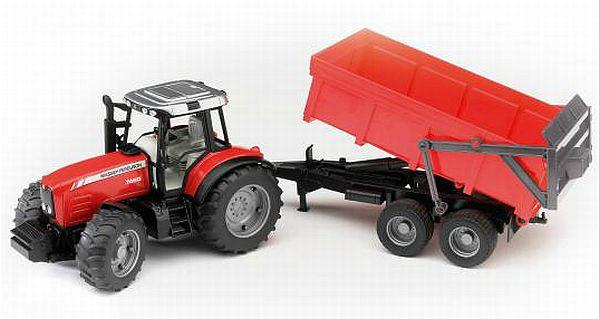 Bruder 2045 Traktor MASSEY FERGUSON 7480 s valníkem