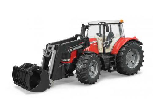 Bruder 3047 Traktor MASSEY FERGUSON nakladač