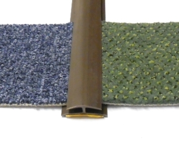 Přechodová lišta na koberec 35mm pvc hnědá (51071009)