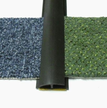 Přechodová lišta na koberec 35mm pvc černá (51071010)