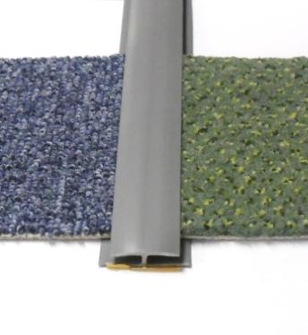 Přechodová lišta na koberec 35mm pvc šedá (51071008)