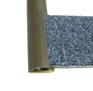 Ukončovací lišta na koberec 35mm pvc hnědá (51061009)