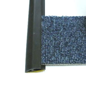 Ukončovací lišta na koberec 35mm pvc černá (51061010)
