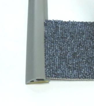 Ukončovací lišta na koberec 35mm pvc šedá (51061008)