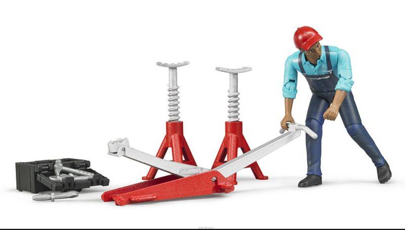 Bruder 62100 Bworld figurka mechanik, opravář s příslušenstvím