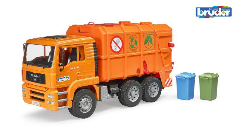 Bruder 2760 Nákladní auto MAN popelářské oranžové