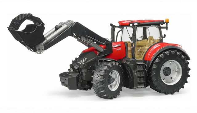BRUDER 3191 Traktor CASE IH Optum s čelním nakladačem