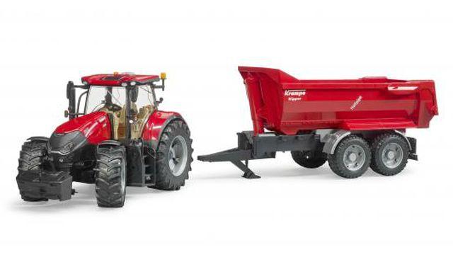 BRUDER 3199 Traktor CASE IH Optum s přívěsem KRAMPE
