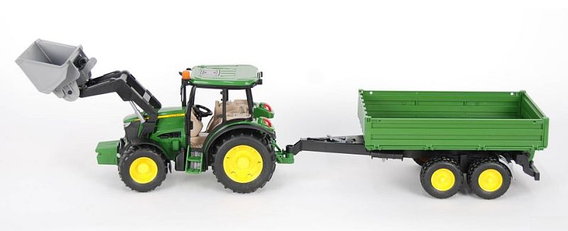 Bruder 1793 Traktor John Deere 5115 s přívěsem a čelním nakladačem (limitovaná edice)