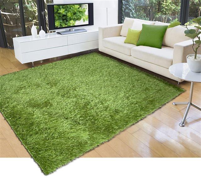 Kusový koberec LILOU green 160x230cm (vysoký vlas)