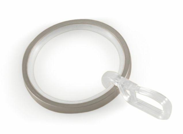 Gardinia Windsor 25mm kroužky s vložkou a háčky ušlechtilá ocel