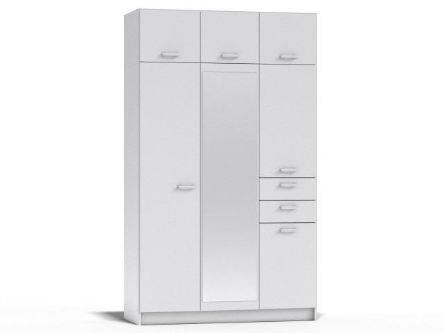 Drevona šatní skříň REA 700 bílá