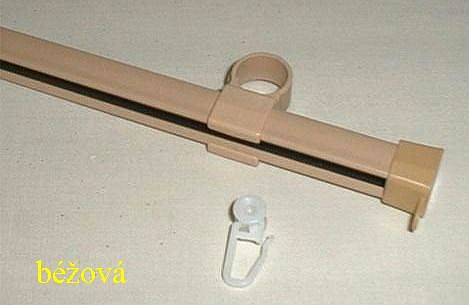 Gardinia U-kolejnička 150cm kov béžová