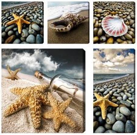 Obraz Mořské motivy - obrazový set