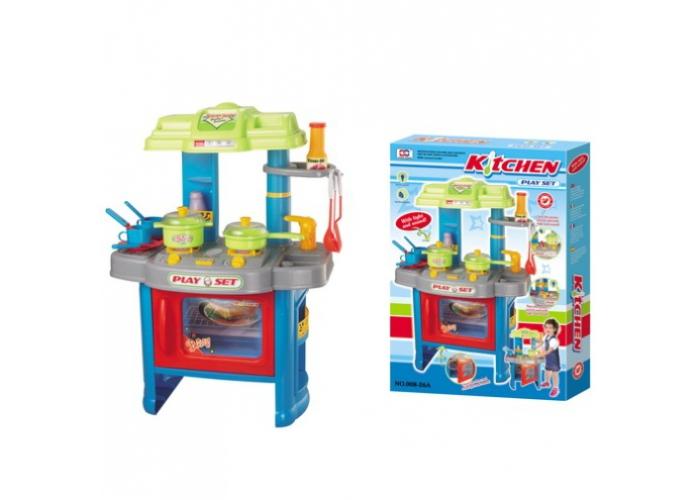 Dětská kuchyňka s příslušenstvím modrá