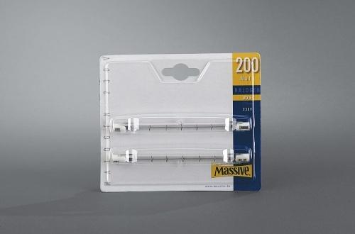 MASSIVE halogenová žárovka 200W, R7S