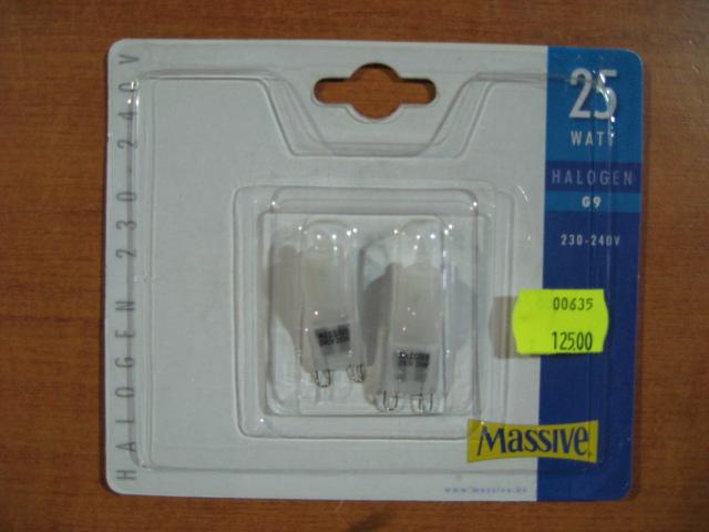 MASSIVE halogenová žárovka 25W, G9