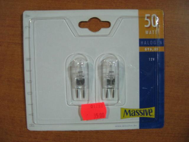 MASSIVE halogenová žárovka 50W, GY6,35