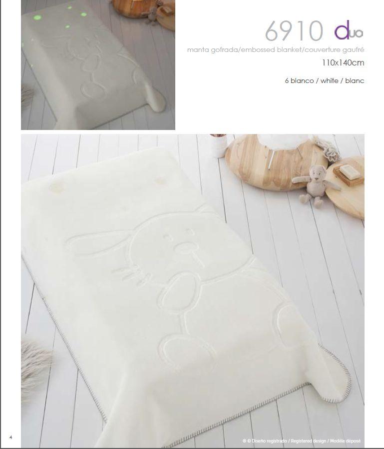 PIELSA španělská dětská deka 110x140, bílá (Bílá)
