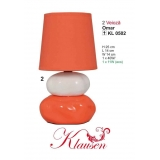 Stolní lampa 0502 Omar oranžová (SKLADEM POSLEDNÍ 1 KS)