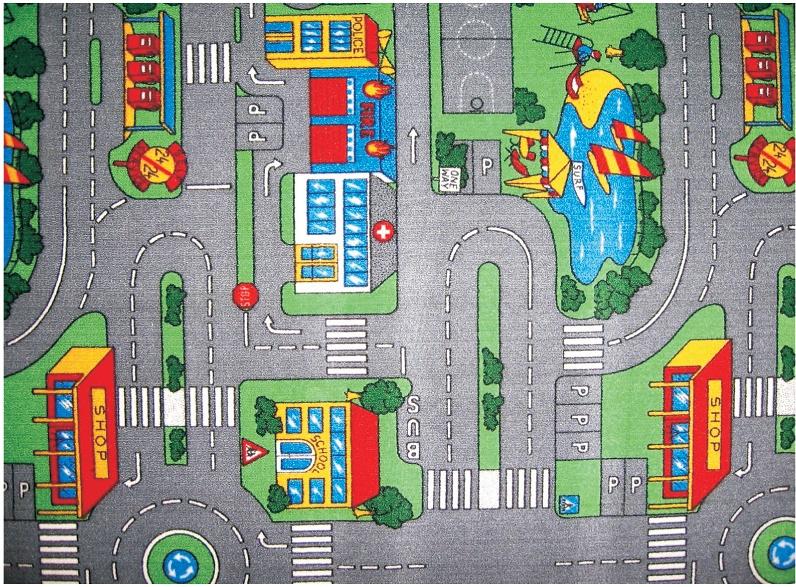 Dětský metrážový koberec PLAYGROUND š.4m (silnice)