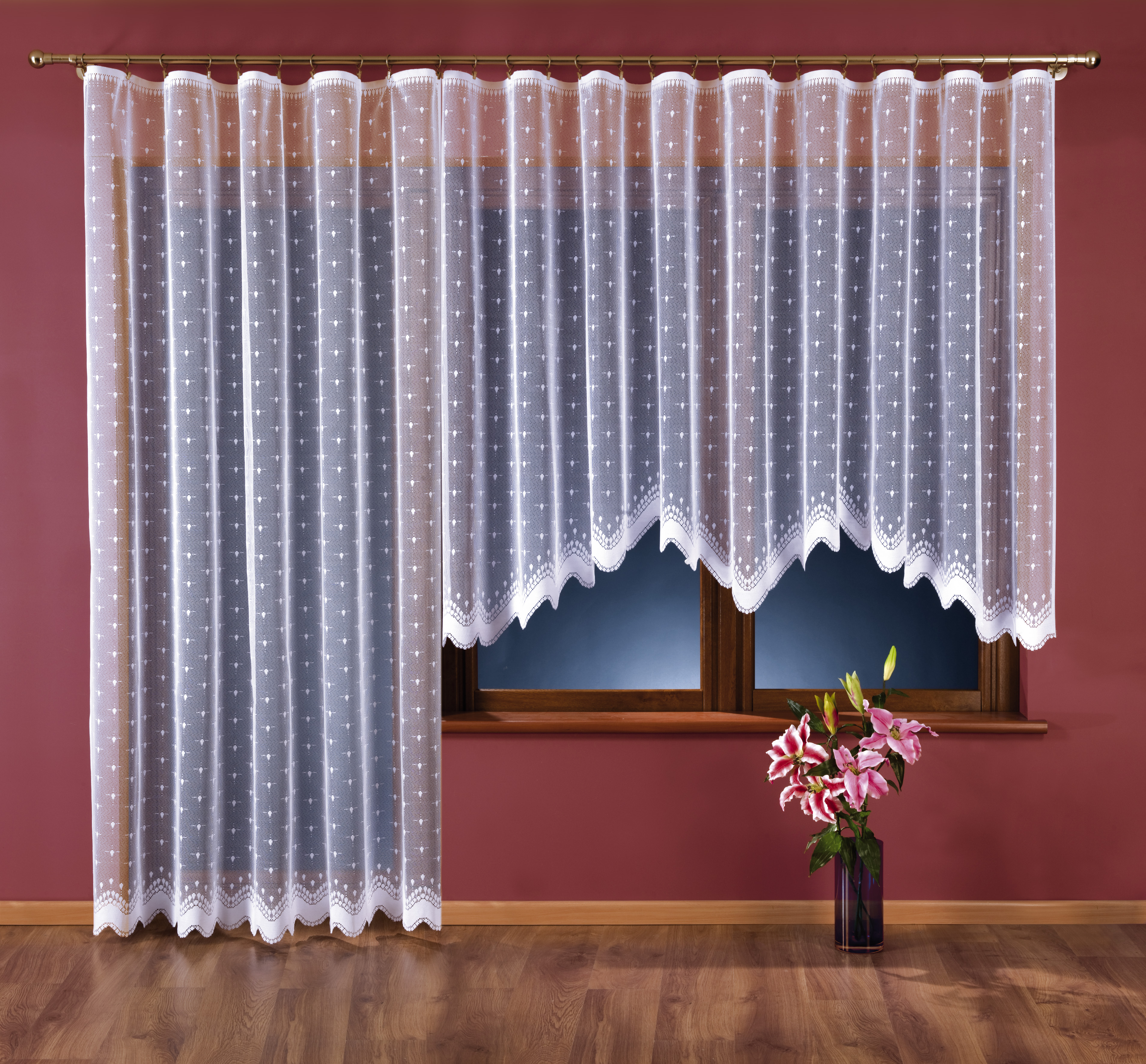 LENKA kusová záclona 250x120 cm