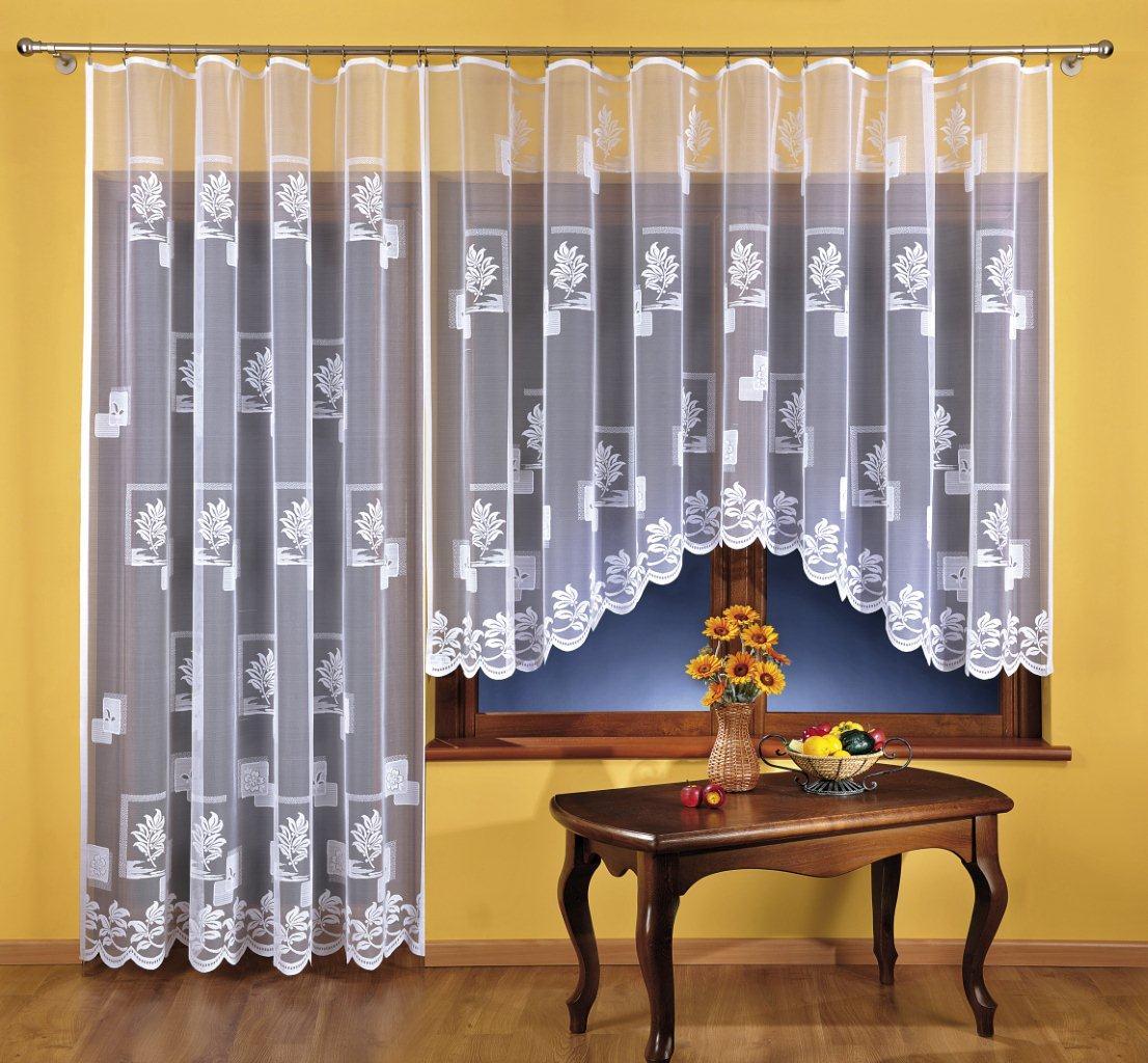 SABINA kusová záclona 350x150cm + 200x250cm bílá